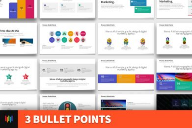 3 Bullet Points Powerpoint Template For Business Pitch Deck Professional Creative Powerpoint Icons 001