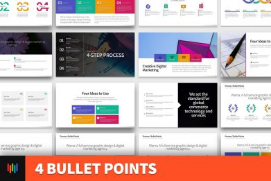 4 Bullet Points Powerpoint Template For Business Pitch Deck Professional Creative Powerpoint Icons 001