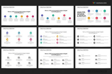 6 Bullet Points Powerpoint Template For Business Pitch Deck Professional Creative Powerpoint Icons 006