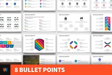8 Bullet Points Powerpoint Template For Business Pitch Deck Professional Creative Powerpoint Icons 001