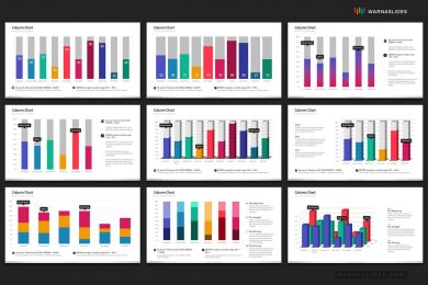 Beautiful Charts Graphs Powerpoint Template For Business Pitch Deck Professional Creative Powerpoint Icons 006