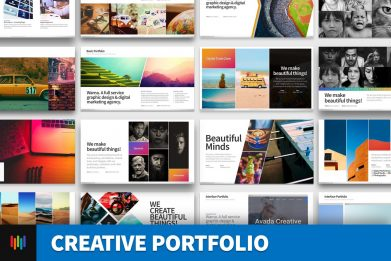 Creative Portfolio Pictorial Powerpoint Template For Business Pitch Deck Professional Creative Powerpoint Icons 001