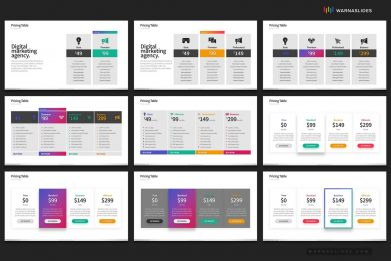 Pricing Table Comparison Powerpoint Template For Business Pitch Deck Professional Creative Powerpoint Icons 006