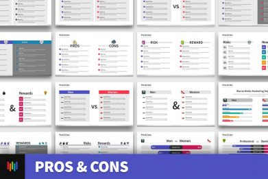 Pros Cons Risks Rewards Powerpoint Template For Business Pitch Deck Professional Creative Powerpoint Icons 002