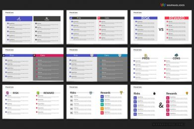 Pros Cons Risks Rewards Powerpoint Template For Business Pitch Deck Professional Creative Powerpoint Icons 006