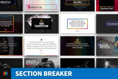 Section Breaker Quotes Social Media Powerpoint Template For Business Pitch Deck Professional Creative Powerpoint Icons 001