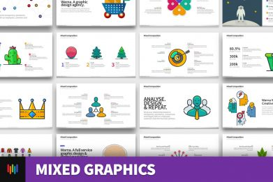 Social Media Graphics Digital Marketing Powerpoint Template For Business Pitch Deck Professional Creative Powerpoint Icons 001
