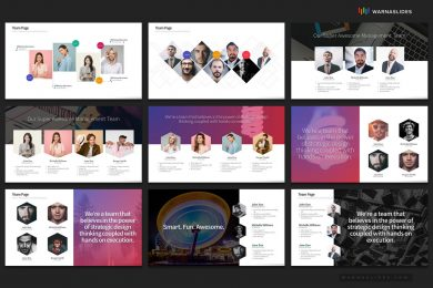 Team Members Organization Management Powerpoint Template For Business Pitch Deck Professional Creative Powerpoint Icons 006