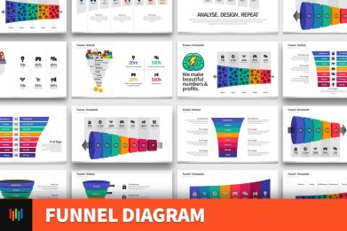 Funnel Reverse Funnel Diagram Powerpoint Template For Business Pitch Deck Professional Creative Powerpoint Icons 001
