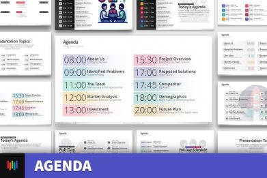 Agenda Meeting Powerpoint Template 2020 For Business Pitch Deck Professional Creative Presentation By Warna Slides 002