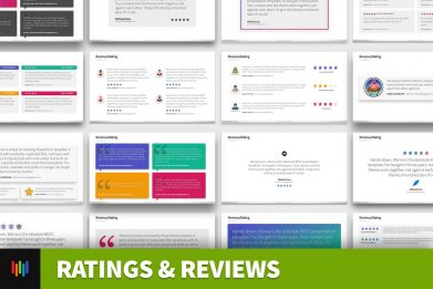Ratings Reviews Testimonial Powerpoint Template For Business Pitch Deck Professional Creative Powerpoint Icons 001