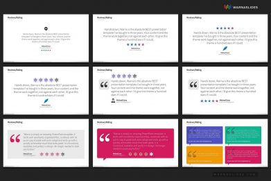 Ratings Reviews Testimonial Powerpoint Template For Business Pitch Deck Professional Creative Powerpoint Icons 006