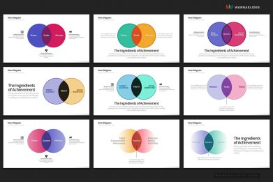 Venn Diagram Powerpoint Template For Business Pitch Deck Professional Creative Powerpoint Icons 006