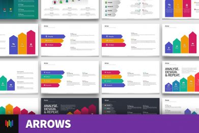 Arrows Chevron Ladder Growth Powerpoint Template For Business Pitch Deck Professional Creative Powerpoint Icons 002