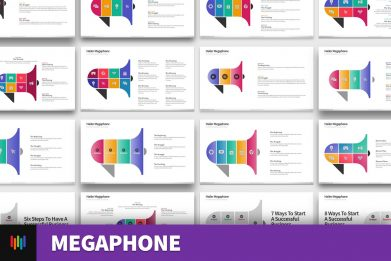 Megaphone Hailer Digital Marketing Powerpoint Template For Business Pitch Deck Professional Creative Powerpoint Icons 002