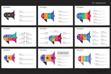 Megaphone Hailer Digital Marketing Powerpoint Template For Business Pitch Deck Professional Creative Powerpoint Icons 007