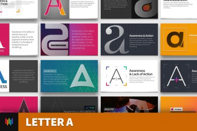 Letter A Typography Powerpoint Template For Business Pitch Deck Professional Creative Powerpoint Icons 001