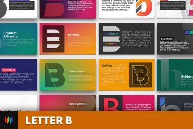 Letter B Typography Powerpoint Template For Business Pitch Deck Professional Creative Powerpoint Icons 001