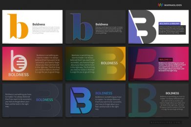 Letter B Typography Powerpoint Template For Business Pitch Deck Professional Creative Powerpoint Icons 009