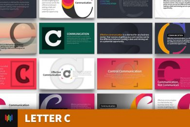 Letter C Typography Powerpoint Template For Business Pitch Deck Professional Creative Powerpoint Icons 001