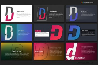 Letter D Typography Powerpoint Template For Business Pitch Deck Professional Creative Powerpoint Icons 009