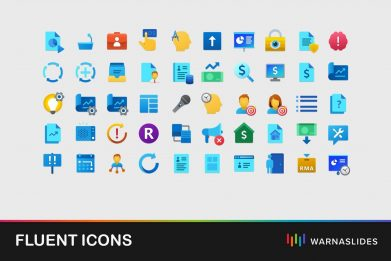 Fluent Icons For Powerpoint Template For Business Pitch Deck Professional Creative Powerpoint Icons 001