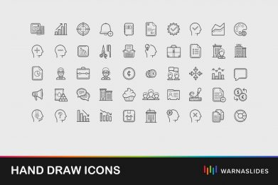 Hand Drawn Icons For Powerpoint Template For Business Pitch Deck Professional Creative Powerpoint Icons 001