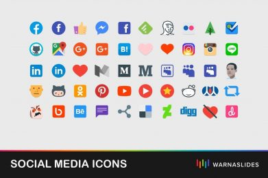 Social Media Icons For Powerpoint Template For Business Pitch Deck Professional Creative Powerpoint Icons 001