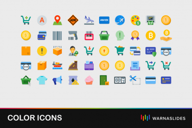 Colorful Color Icons For Powerpoint Template For Business Pitch Deck Professional Creative Powerpoint Icons 001